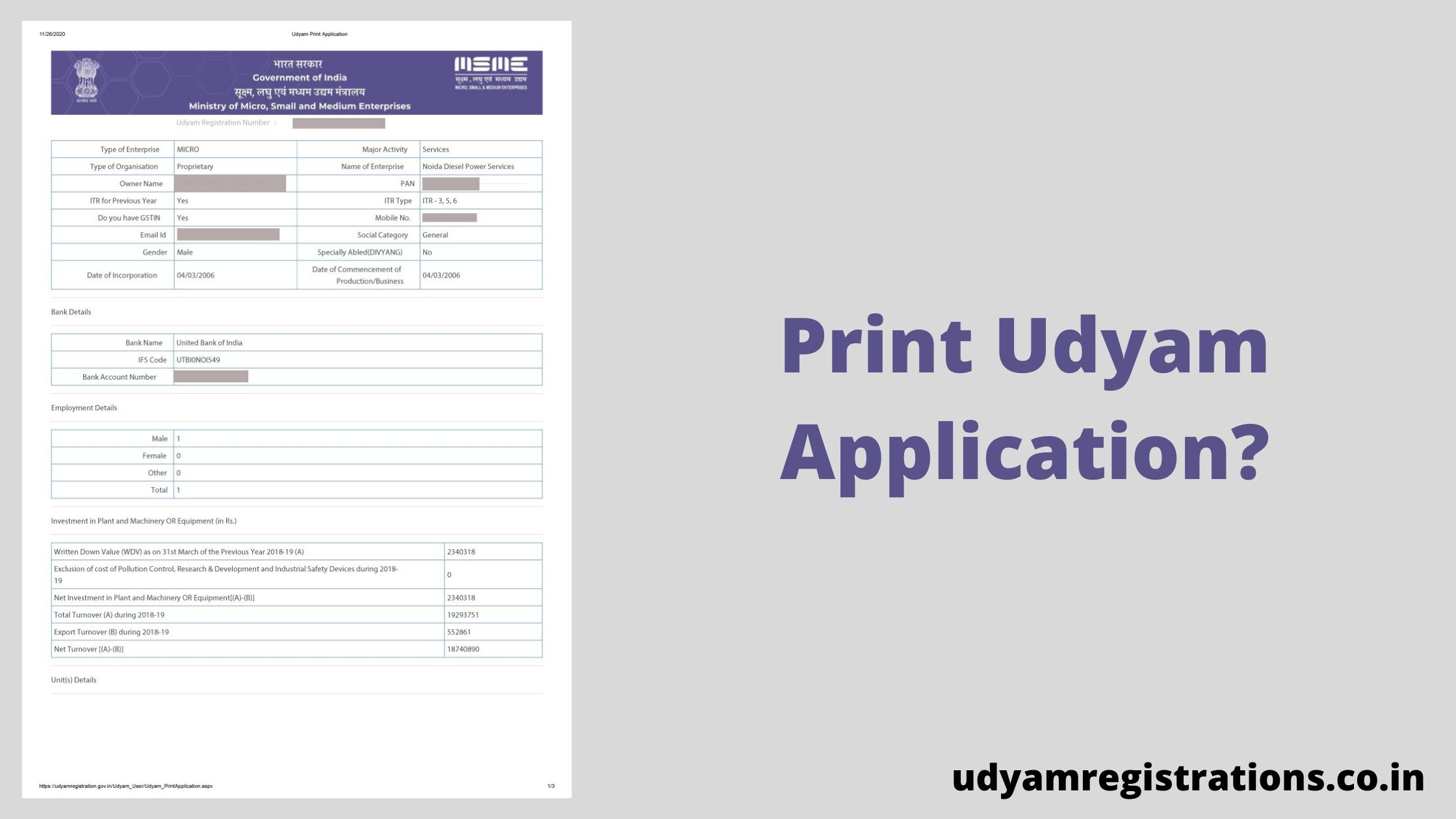How to Print Udyam Application?