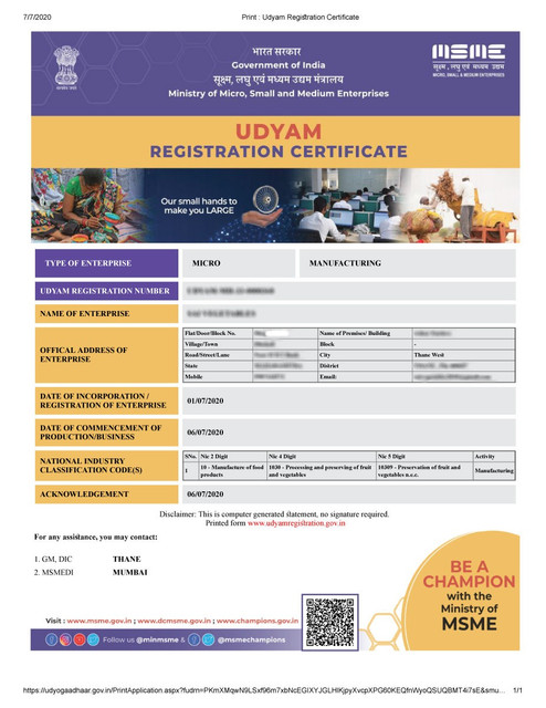 How to Print MSME (Udyam) Registration Certificate